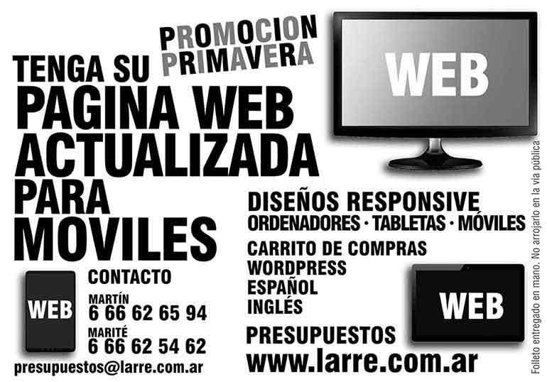 Tarjeta de promoción web, self promo, diseño Larre